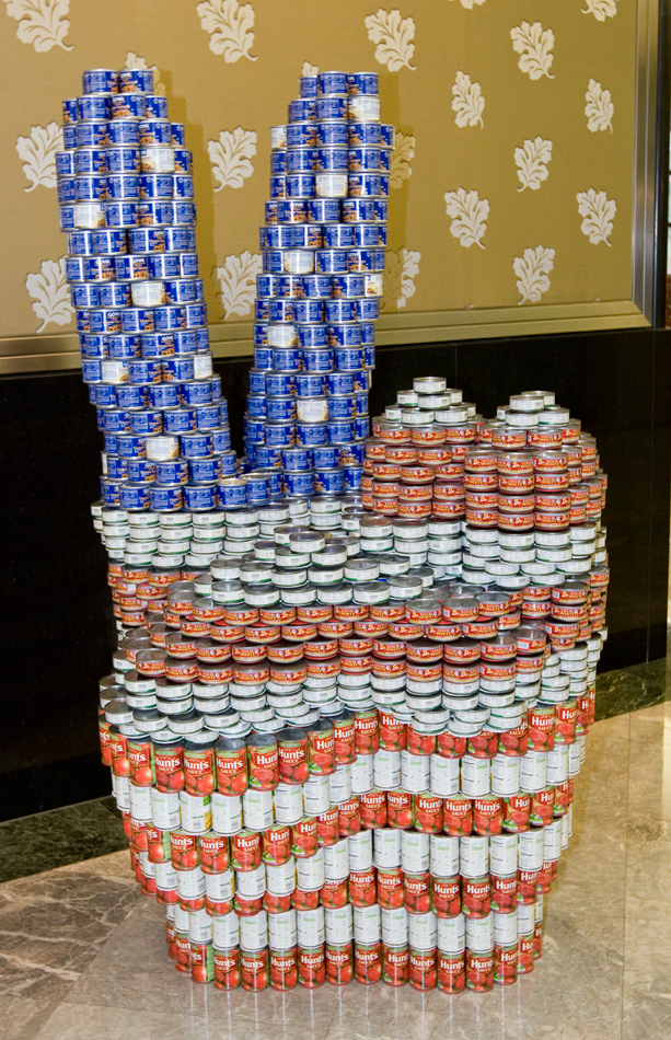 Easy Canned Food Sculptures