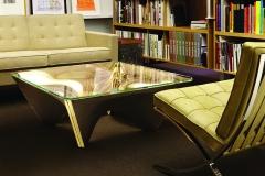 David Adjaye designed table for Knoll--June 25, 2013.