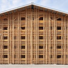 In Kentucky, Two Barns of Steel and Bamboo