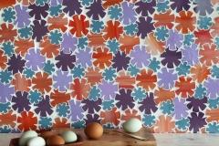 Flowers waterjet glass mosaic
