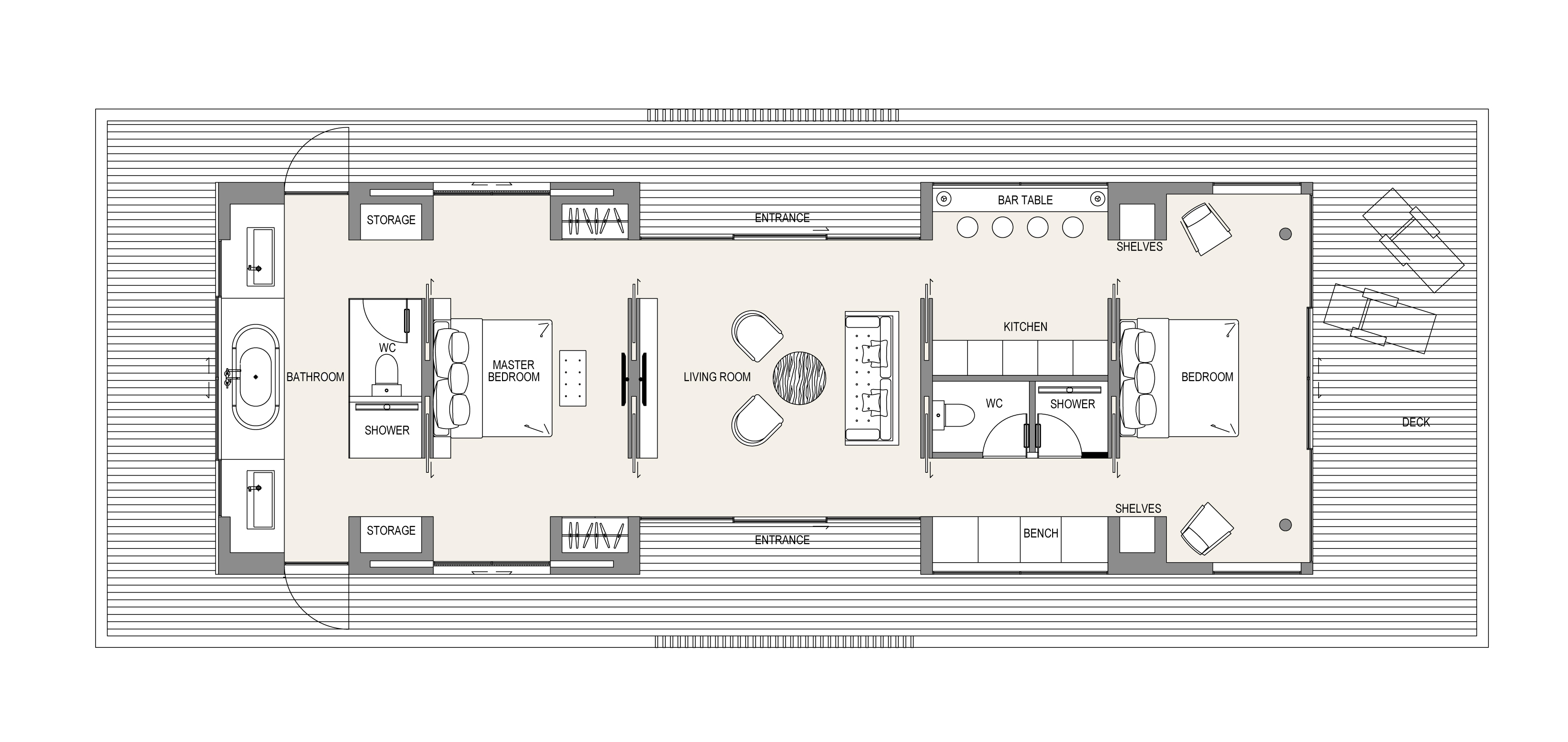 floating house layout