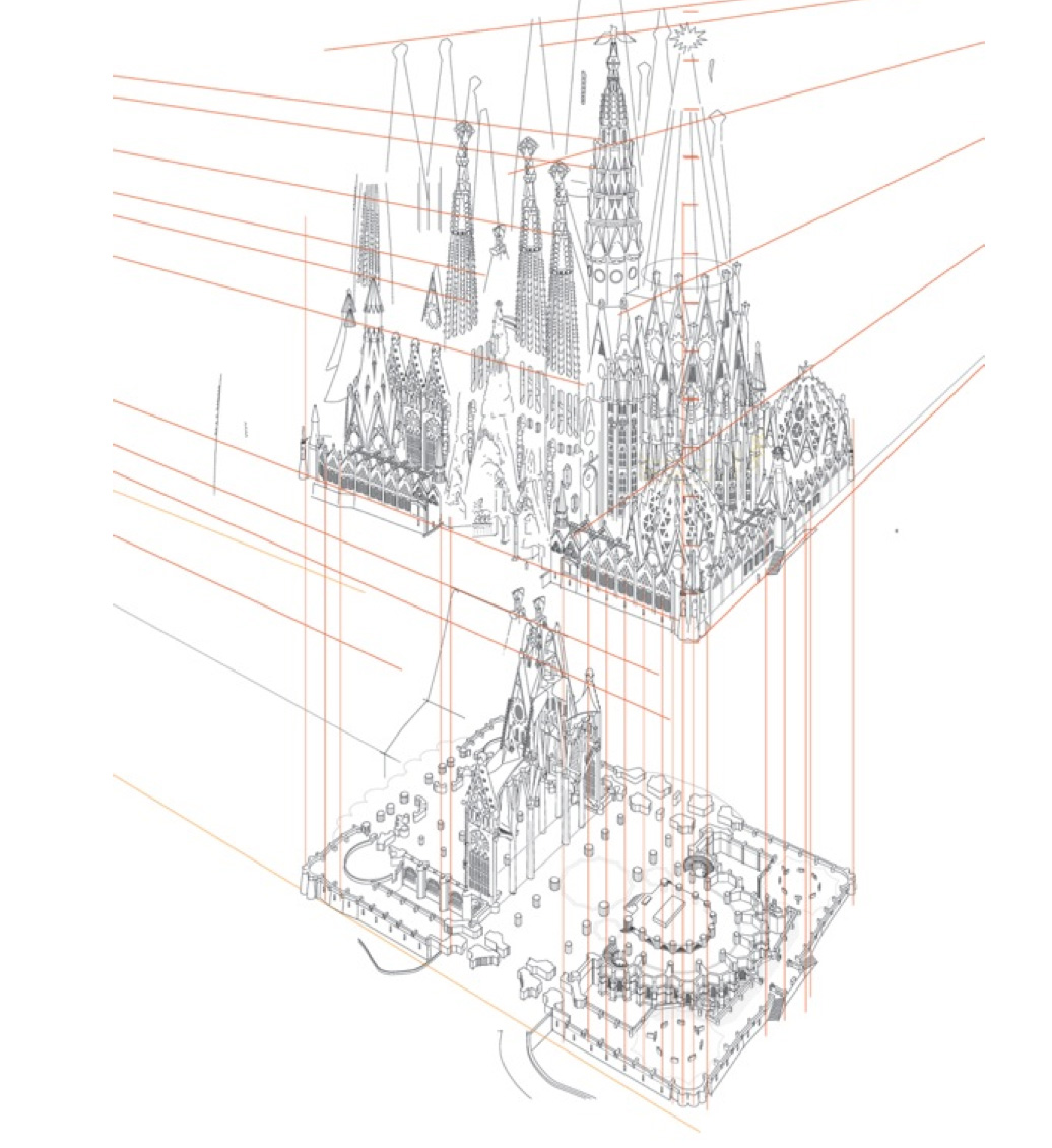 Sagrada Familia Gaudi Sketch