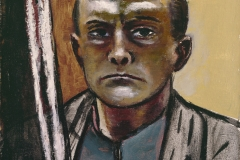 Beckmann_Self Portrait in Olive and Brown_55