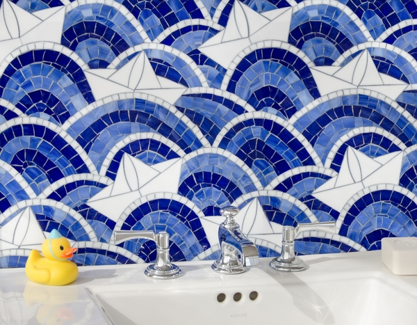 Fleet jewel glass mosaic