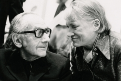 Eileen Tweedy (born 1929); Man Ray and Lee Miller at the Opening of Man Ray, Inventor, Painter, Poet at the Institute of Contemporary Arts, London, 1975; Gelatin silver print; 6 1/4 x 8 1/4 in. (15.9 x 20.9 cm); The Penrose Collection, Sussex, England; © Courtesy of The Penrose Collection. All rights reserved.