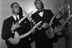 George Balanchine & Lincoln Kirstein with Noguchi Lyres