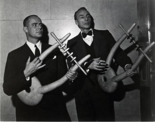 George Balanchine & Lincoln Kirstein with Noguchi Lyres