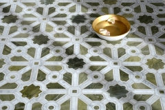 Jardin stone & glass water jet mosaic