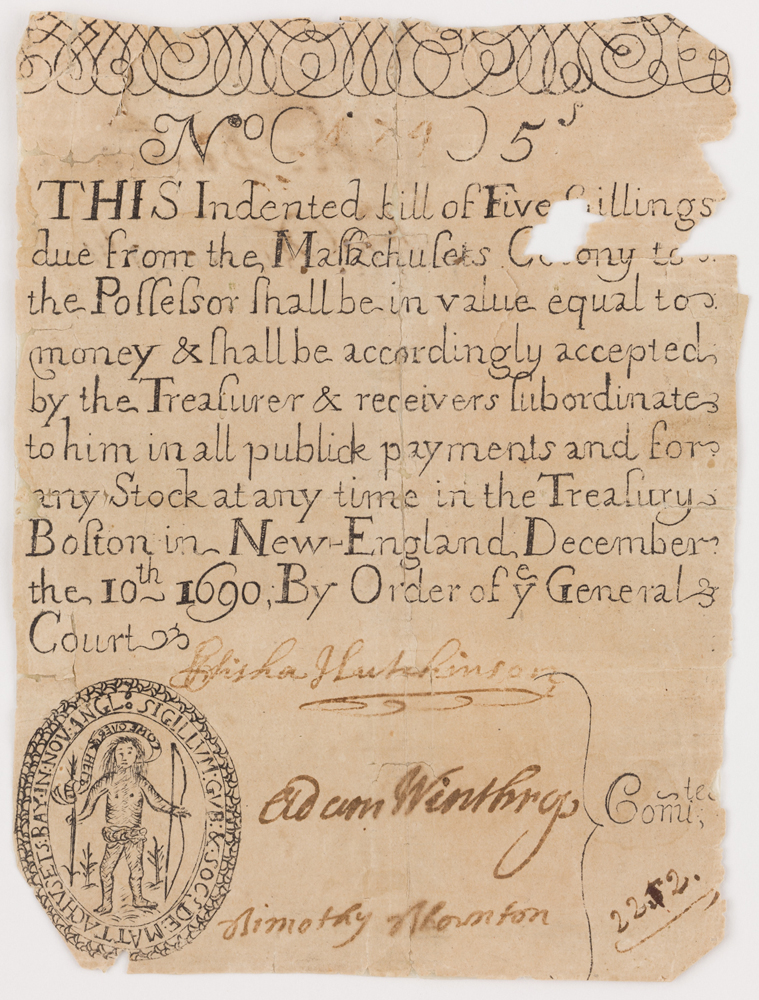 first-example-of-paper-currency-1690-courtesy-peabody-essex-museum