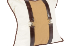 The Harness Leather Pillow 20x20 Tan