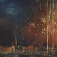 Painting the Fireworks from St. Mark's Bay