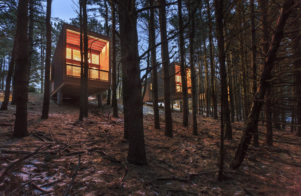 Three Cabins in the Minnesota Woods