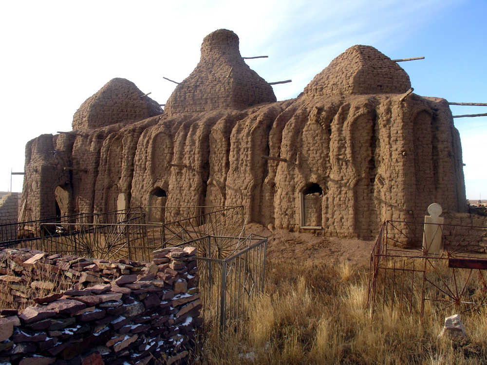 Country: Republic of KazakhstanSite: Vernacular architecture of Kazakh steppe Sary-ArkaCaption: Ali-Tusup mausoleum. View from the SouthImage Date: 2007Photographer: T.Turekulov, ICOMOS/Kz Provenance: 2010 Watch NominationOriginal: from Share File